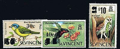 """St. Vincent,, """"BIRDS"""",,,,O/Print values to $10.00 on $1.00,, m/mint"""