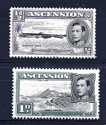 ASCENSION,, 1938,, SG's 38 and 39,, fine m/mint,,,CV about £50.00