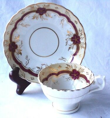 C19Th Ridgway Hand Painted And Gilded Cup And Saucer  2/117