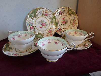 "Tuscan / Paragon English Bone China ""windsor"" Stunning 7 Piece Wide Cup Tea Set"