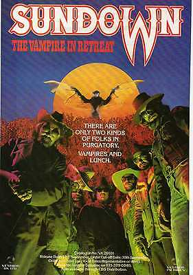 A4 Original Advert for the Video Release of Sundown the Vampire In Retreat