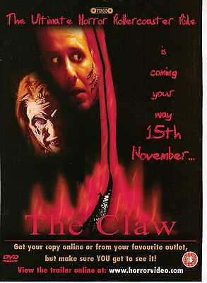 A4 Original Advert for the DVD Release of The Claw