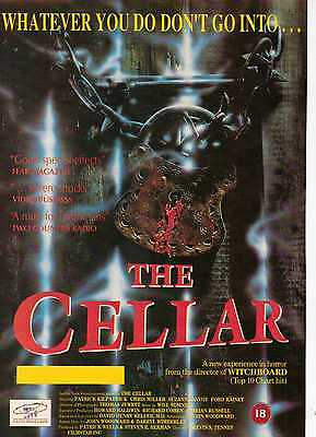 A4 Original Advert for the Video Release of The Cellar