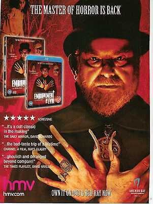 A4 Original Advert for the DVD Release of Embodiment Of Evil