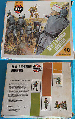 AIRFIX - S26 WWI German Infantry - VINTAGE RARE STRIP-BOX LOOSE COMPLETE