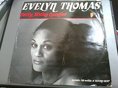 """Evelyn Thomas - Sorry, Wrong Number - 12"""" Single"""
