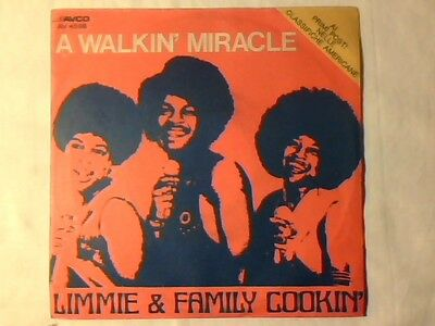 "LIMMIE & FAMILY COOKIN' A walkin' miracle 7"" ITALY UNIQUE PICTURE SLEEVE"