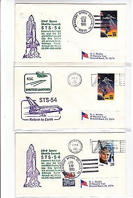 "STS-54 Endeavour 17 Covers Jan 1993 Space Shuttle ""TDRS"" !!"