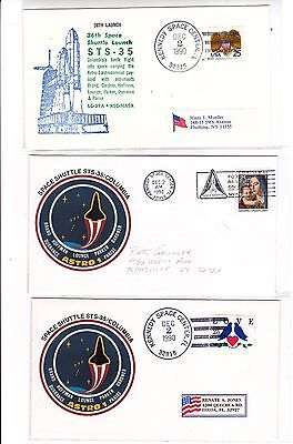 "STS-35 Columbia 17 Covers Dec 1990 Space Shuttle ""ASTRO-1"" !!"