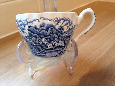 Vintage Myotts Country Life Blue & White Tea Cup