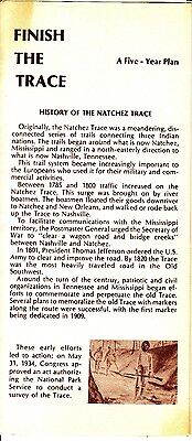 Finish The Trace 5 Year Plan Native American Mississippi Vintage Brochure