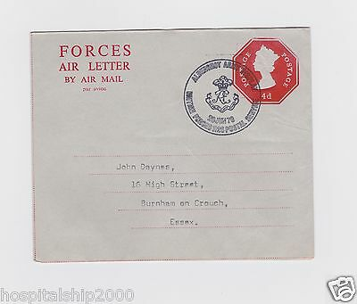 Gb Postal Stationery Gb Forces Air Letters Stamped To Order 4D Used Forces