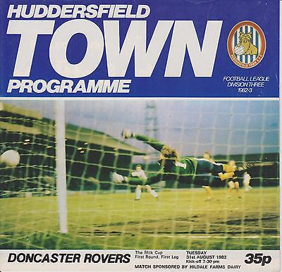 HUDDERSFIELD TOWN v DONCASTER ROVERS 82-83 LEAGUE CUP MATCH