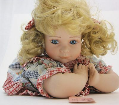 """Vintage Show-Stoppers 16"""" Collectible Porcelain Doll w/ Tag"""