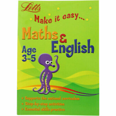 Letts Maths and English - Age 3-5 (Paperback), Children's Books, Brand New