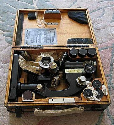 Military Russia USSR NEW preserved from store microscope MIB-3 1943 WW2