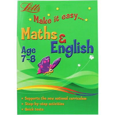 Letts Maths and English - Age 7-8 (Paperback), Children's Books, Brand New