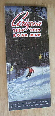 0767 Arizona Road Map 1954 - 1955 Mint condition