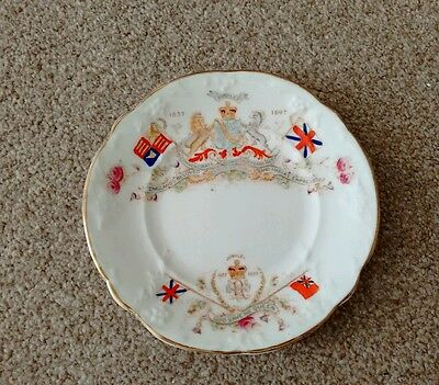 Lovely Bone China Queen Victoria Jubilee Plate (1837-1897) : Commemorative Ware