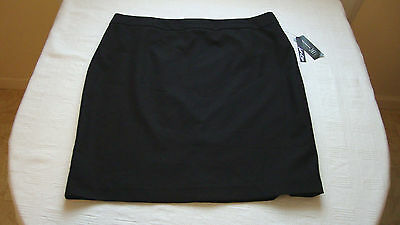 Women's INC Deep Black Skirt Size 16 NEW With Tags