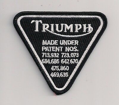 Triumph patent plate 3 inch patch. Rocker 59 Club. Ace Cafe Racer Ton Up NEW
