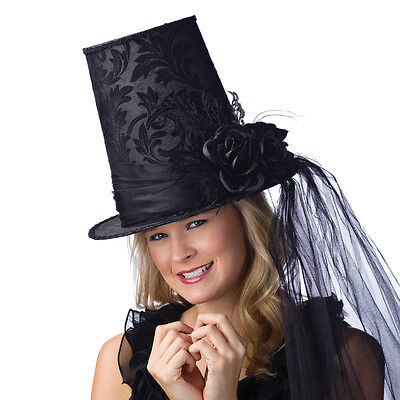 Damask Tapered TOP HAT Halloween Costume  Accessory NEW FUN