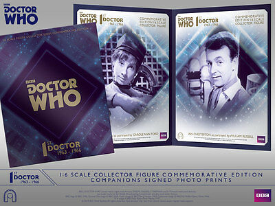 Dr Who: Big Chief Studios CAROLE ANN FORD + WILLIAM RUSSELL SIGNED PHOTO SET