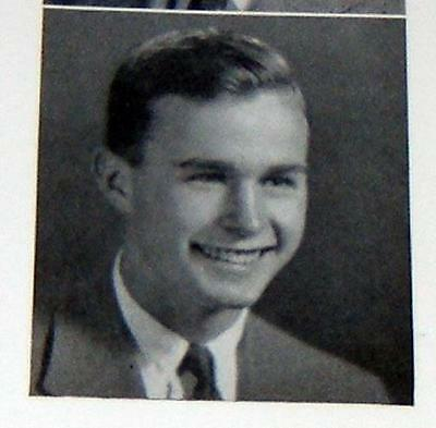 George H W Bush - Phillips Andover Academy Pot Pourri Yearbook - Jack Lemmon