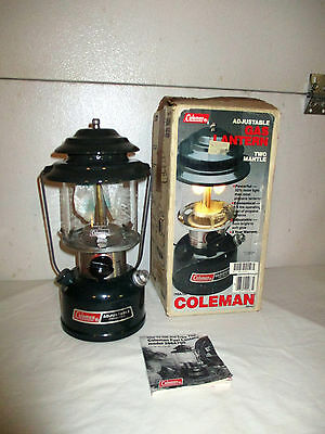 Coleman 288A700 Two-Mantle Gas Lantern Unfired NIB 1990