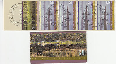 "1993 Wetlands & waterways  Booklets CTO ""used"" + mint with gold KAOSIUNG ,logo"