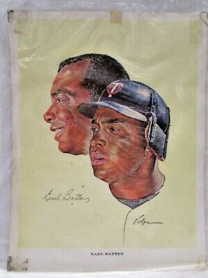 Vtg 1963 Earl Battey Minnesota Twins Western Oil & Fuel Co. Nicholas Volpe Print