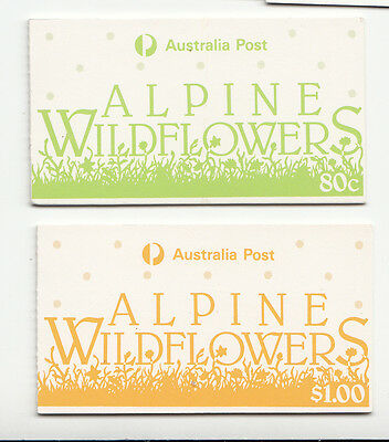"1986 Alpine flowers  Booklets (2)  80c  & $1  CTO ""used"""