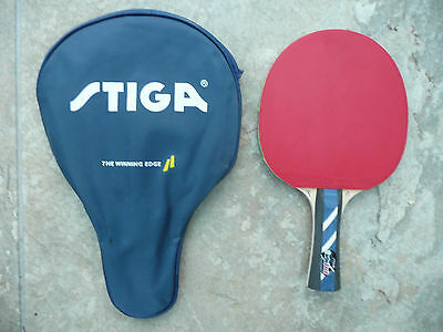 Super Stiga table tennis bat and case