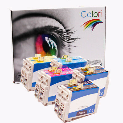 Set 10x Druckerpatrone Tinte Patrone für Epson Expression Home Premium Workforce