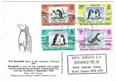 1979 British Antarctic Territory - Penguins - Halley Bay - Ship RRS Bransfield