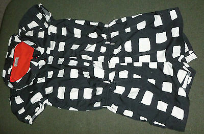 Next, black and cream checked playsuit age 12