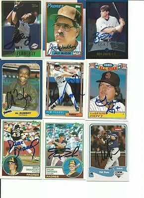 San   Diego    Padres      9   Card   Autographed   Lot