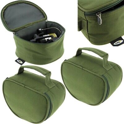 2 x New NGT Deluxe Green Reel Case Bag Carp Pike Fishing Tackle 108 fit Big Pit