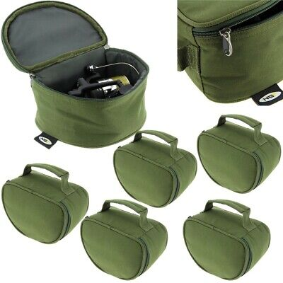 5 x New NGT Deluxe Green Reel Case Bag Carp Pike Fishing Tackle 108 fit Big Pit