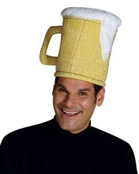 Beer Mug Costume Hat Adult One Size Fits Most