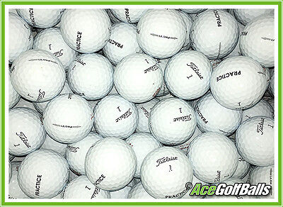 """100 Titleist PRO V1 (2014/15) Golf Balls - PEARL / GRADE A - stamped """"PRACTICE"""""""