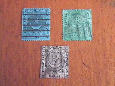 Turkey ~ Local Post ( Poste Locale ) ~ Crescent & Star Issues ~ 1865-67 ~ Lot 1