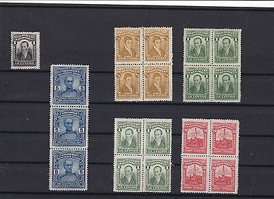 Colombia Mounted Mint Early Stamps On Stock Card  Ref R 2584
