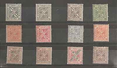 ALLEMAGNE.WURTEMBERG. Lot timbres