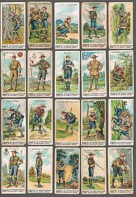 1912 J.S. Fry V39 Scout Series Trading Cards Complete Set of 50
