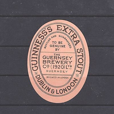Bottle Label, Guinness's Extra Stout, Bottled By The Guernsey Breweryco(1920)Ltd
