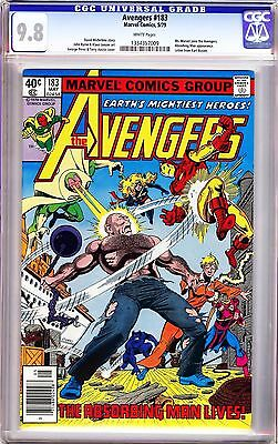 "AVENGERS #183 GEORGE PEREZ (1979) CGC 9.8 WP ""Ms Marvel Joins the Avengers!!"""