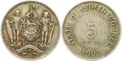 7151 North Borneo  5 Cents 1903