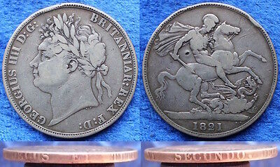 UK - silver crown 1821 KM# 680.1 George IV (1820-1830) - Edelweiss Coins