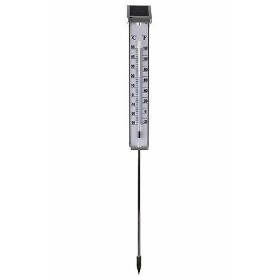 Nature Solar Gartenthermometer Außenthermometer Thermometer LED-Licht 6080066 #